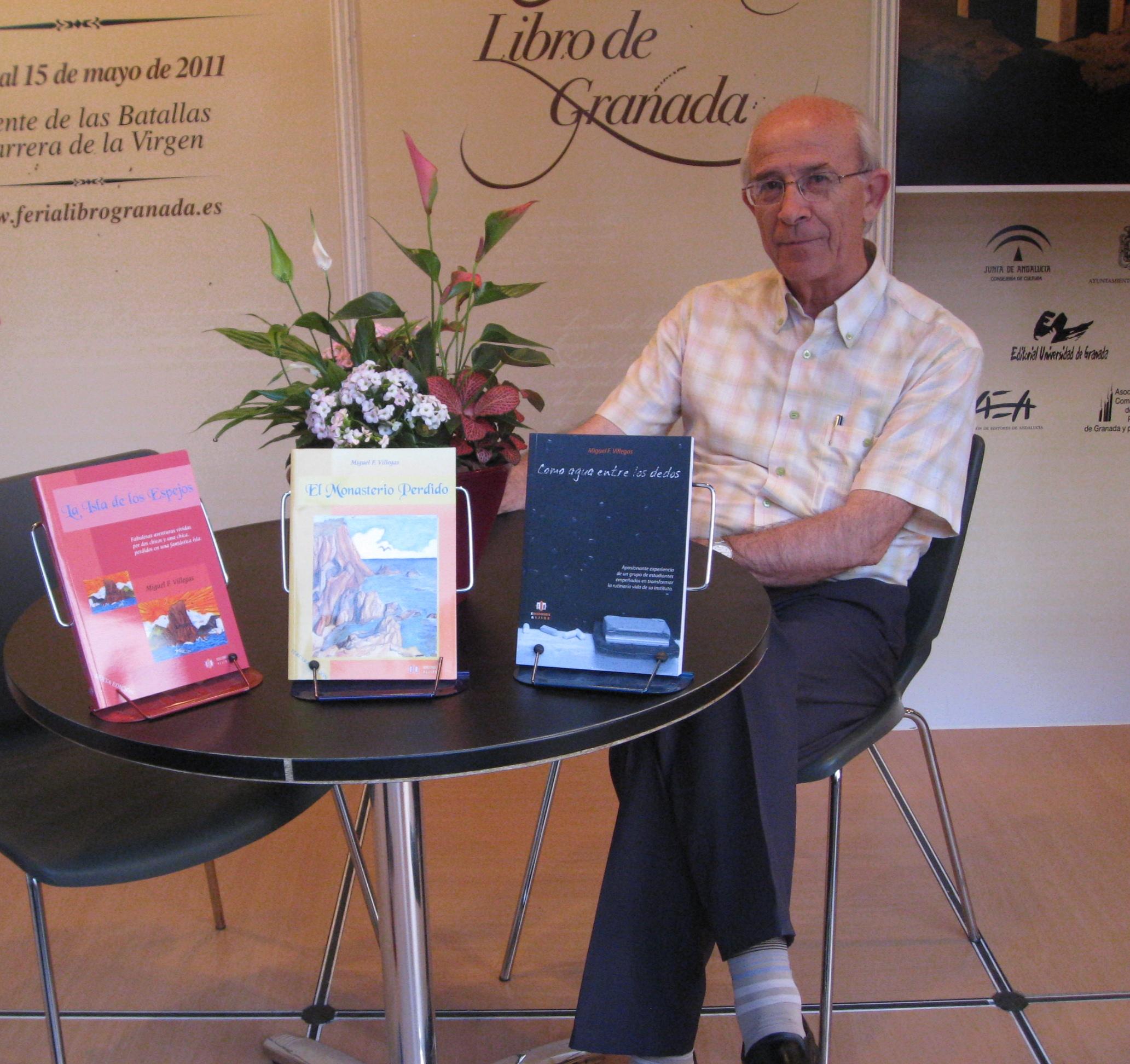 Miguel F. Villegas en la Feria del Libro de Granada
